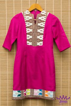 Fuschia Songket Dress