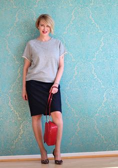 Glam up your Lifestyle - Ü40 + Ü50 Blog für Mode, Lifestyle, Beauty, Fitness und gesunde Ernährung : Bleistiftrock lässig getragen
