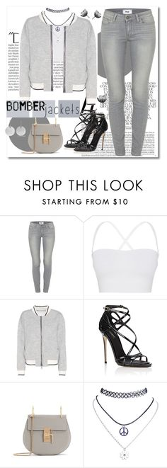 """Oldies with Bomber jacket"" by jennifer-allison-bulnes-apolo ❤ liked on Polyvore featuring Balmain, Whiteley, Paige Denim, Theory, rag & bone, Dolce&Gabbana, Wet Seal, Isabel Marant and bomberjackets"