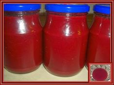 Kouzelná vařečka: Švestkový kečup Hot Sauce Bottles, Kimchi, Preserves, Salsa, Frozen, Spices, Cooking Recipes, Jar, Homemade