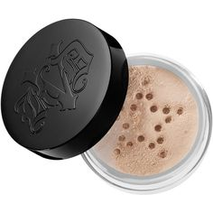 Kat Von D Lock-It Setting Powder (105 DKK) ❤ liked on Polyvore featuring beauty products, makeup, face makeup, face powder and kat von d