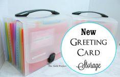 new greeting card storage