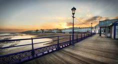 Photograph Artificial Light by Michael Baldwin on 500px, Sunset over Eastbourne Seafront from the pier.