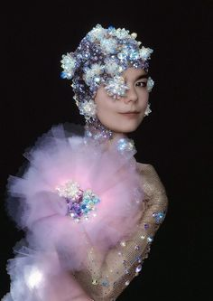 I have always been fascinated by Bjork and with a sound that is almost ethereal it is easy to see why. This shoot is stunning and captures what we all see when we visualise her in her true beauty. An inner light....x