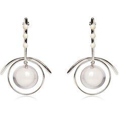 Marni Women Sphere Hoop Earrings (6.391.680 IDR) ❤ liked on Polyvore featuring jewelry, earrings, white, hoop earrings, marni, white earrings, marni earrings and marni jewelry