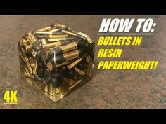 How to make bullets cast in EasyCast resin epoxy paperweights! Resin Casting experiment came out pretty decent for my first clear resin cast. Used ammo. Diy Resin Projects, Diy Resin Art, Diy Resin Crafts, Bullet Casing Crafts, Bullet Crafts, Clear Epoxy Resin, Diy Epoxy, Easycast Resin, Ammo Art