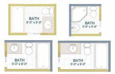 X Bathroom Layout Ideas For The House Pinterest Bathroom - 5x6 bathroom with shower