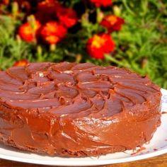 Egg less Dark Chocolate Cake with Ganache Glaze, How to make Egg less Dark Chocolate Cake with Ganache Glaze