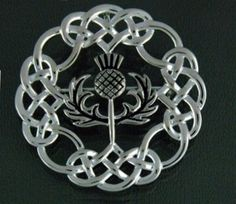 Amazon.com: Pewter Celtic Thistle & Knotwork Brooch/Pendant - For Kilt, Cloak - Classic Scottish Style: Jewelry