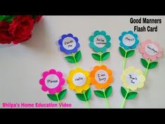 Learn Good Manners for kids | Daily activities for kids | Diy Flash cards | How to | Shilpa's Corner