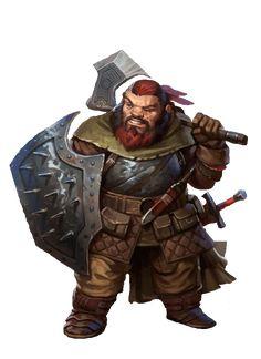 Dwarf Ranger - Pathfinder RPG PFRPG DND D&D d20 fantasy