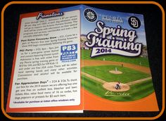 LOT OF 10 2014 PEORIA SPORTS COMPLEX SPRING TRAINING BASEBALL POCKET SCHEDULES #Pocket #SCHEDULE