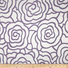 Starlight Peony Reversible Jacquard Purple from @fabricdotcom  Refresh and modernize any home decor with this medium weight jacquard fabric. This fabric is reversible and perfect for window treatment (draperies, swags, valances, curtains) accent pillows and upholstery. Colors include silver and purple