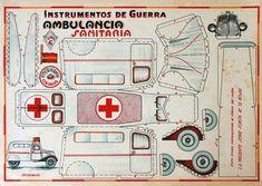 Paper Model Car, Paper Models, Papel Vintage, Vintage Paper, Papercraft Anime, Diorama, Nurse Party, Cardboard Model, Paper Chains