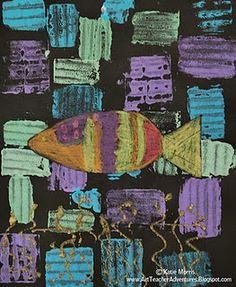 paul klee shape fish print