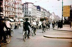 1930 Frankfurter Allee Ecke Warschauerstrasse,U-Bahneingang Peterburgerstrasse heute Frankfurter Tor Blick nach Osten