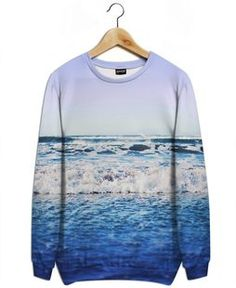 Indigo Waves - Leah Flores - All-Over Print Sweatshirt