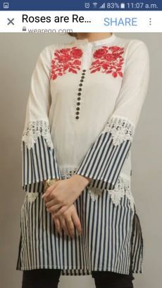 Kurti Sleeves Design, Kurta Neck Design, Sleeves Designs For Dresses, Dress Neck Designs, Stylish Dress Designs, Pakistani Dresses Casual, Pakistani Dress Design, Pakistani Fashion Casual, Dress Design Sketches