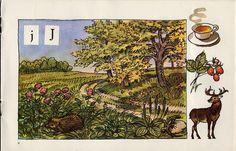 Živá abeceda/The Living Alphabet The pre ABC book. Prague Illustrated by Antonín Pospíšil. Alphabet Print, Prague, Montessori, Countryside, Graphics, Illustrations, Retro, Children, Mini