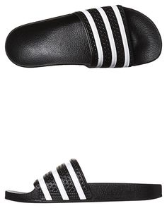 1fe9d7fa9 Mens Adidas -mc- Originals Adilette Thong Black Synthetic