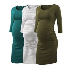 Maternity Long Sleeves Dresses 34.99 CAD Casual Maternity Dress, Long Sleeve Maternity Dress, Maternity Shops, Stylish Maternity, Maternity Tees, Maternity Fashion, Maternity Outfits, Maternity Style, Maternity Clothing