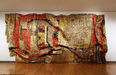 THE AMAZING ART OF AL ANATSUI AT THE BROOKLYN MUSEUM NYC Click on link for more: http://pilarrossiblog.wordpress.com/2013/06/25/el-anatsuis-gravity-and-grace-monumental-works/