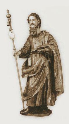 Sant'Amaro con bordone con conchiglia jacopea. Burgos Hospital del Rey