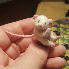 mini felted mouse