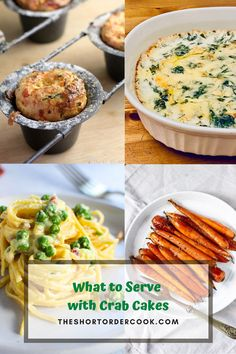 The best sides to serve with crab cakes are all right here. A list of quick and easy side dish recipes to eat with crab cakes, crab legs, or any seafood. If you want a salad, baked goods, vegetables, or pasta; so many recipes for side choices for what to eat with your crab cakes. Whether you make them or buy them with lump, Dungeness, blue, fresh, frozen, canned, or imitation crab – all these pair good with crab cakes. #whattoeatwith #bestsidedishes #crabcakes #seafood