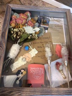 My wedding Shadow Box(: it holds all of my memories in one place - more of a post wedding idea for you Wedding 2017, Post Wedding, Wedding Engagement, Fall Wedding, Rustic Wedding, Wedding Planner, Dream Wedding, Trendy Wedding, Wedding Stuff