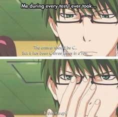 The answer should be C...But it has been C three times in a row... Is This a Trap? | Kuroko no Basuke