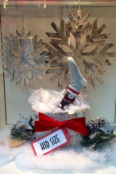 Fun Fashions Mayfair Christmas 2016 fun fashions.ca PropaganZa Visual Display & Design Visual Display, Display Design, Christmas Window Display, Christmas 2016, Hanukkah, Christmas Stockings, Cool Style, Wreaths, Holiday Decor