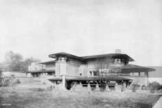 Joseph Husser House. 1899. Chicago, Illinois. Early prairie style. Frank Lloyd Wright demolished 1926