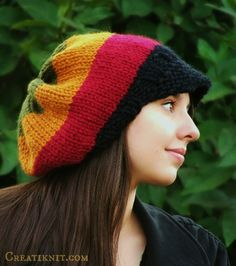 If you love Reggae, style & fun...then this Rasta hat knitting pattern for you!  So much fun to watch this cap come to life as you knit and combine it's wonderfully vibrant colors!