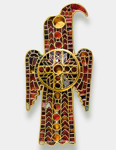 Eagle brooch, migration period, 500 A.D. Domagnan, San Marino. Germanisches Nationalmuseum This jewelry is made in byzantine fashion, owned by a high lady of the Ostrogoths King Theoderic, who reigned in Ravenna.
