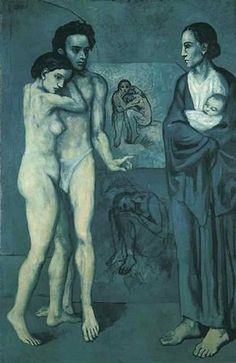 Pablo Picasso La Vie (Life), Oil on canvas, 197 x 129 cm. The Cleveland Museum of Art © 2012 Estate of Pablo Picasso / Artists Rights Society (ARS), New York Pablo Picasso, Kunst Picasso, Art Picasso, Picasso Paintings, Picasso Images, Art Paintings, Guernica, Georges Braque, Cubist Movement