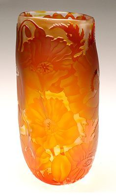 Small Poppies: Mary Mullaney and Ralph Mossman: Art Glass Vase - Artful Home