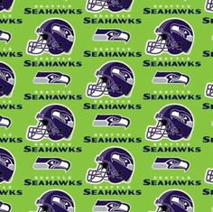 Seattle Seahawks Green Cotton Fabric by the Yard