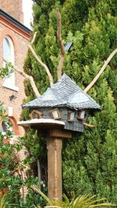 Unusual Bird Tables | Unique hobitt style garden bird house nesting/feed table | eBay