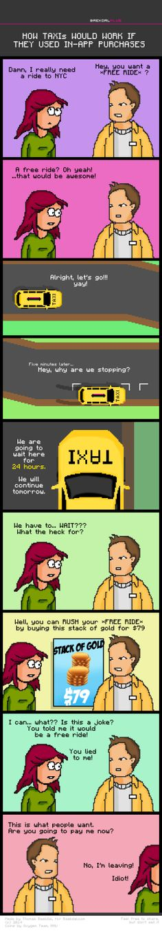 How taxis would work if they used in-app purchases.