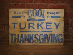 Thanksgiving Hand Painted Sign by LamplightDesignCo on Etsy