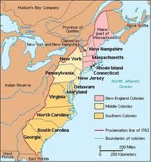 New England Colonies, Middle Colonies, Southern Colonies