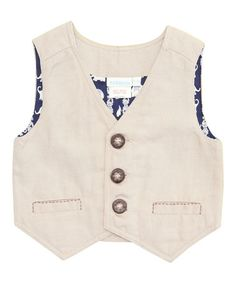 Take a look at this Natural Linen Vest - Infant, Toddler & Boys by JoJo Maman Bébé on #zulily today!