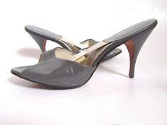 1950's Dress Shoes - Grey Springolator Heels in Size 9 Narrow