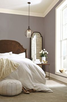 77 Comfy Urban Farmhouse Master Bedroom Remodel Ideas Page 18 of 79 Relaxing Bedroom Colors, Relaxing Master Bedroom, Best Bedroom Colors, Bedroom Color Schemes, Small Bedroom Paint Colors, Master Bedrooms, Master Master, Paint Colours, Cozy Bedroom