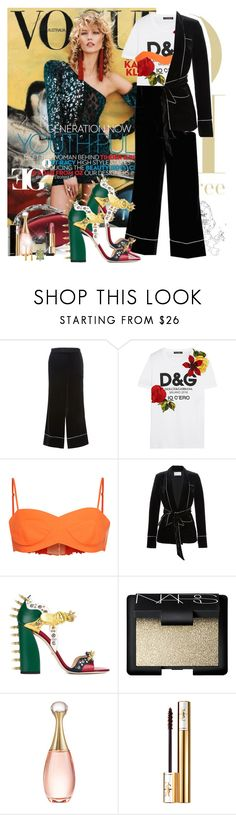 """""""Saint Tropez"""" by eleonoragocevska ❤ liked on Polyvore featuring Zuhair Murad, Dolce&Gabbana, Emilio Pucci, Gucci, Manolo Blahnik, NARS Cosmetics, Christian Dior, Yves Saint Laurent and Chanel"""