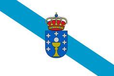 Bandera de la Comunidad Autónoma de Galicia.
