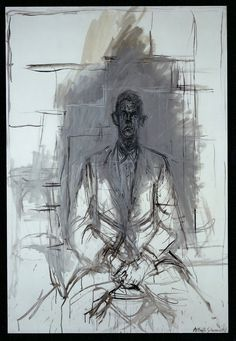 James Lord, portrait by Alberto Giacometti
