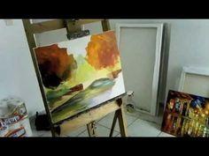 Leonid Afremov Painting live a painting of bridge - part 2