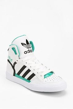 Adidas Women Shoes - adidas Extaball Leather High-Top Sneaker - We reveal  the news in sneakers for spring summer 2017